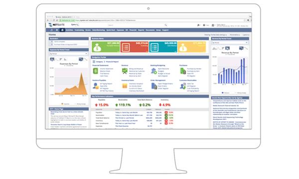 Computer desktop with NetSuite program on the screen, NetSuite consultants