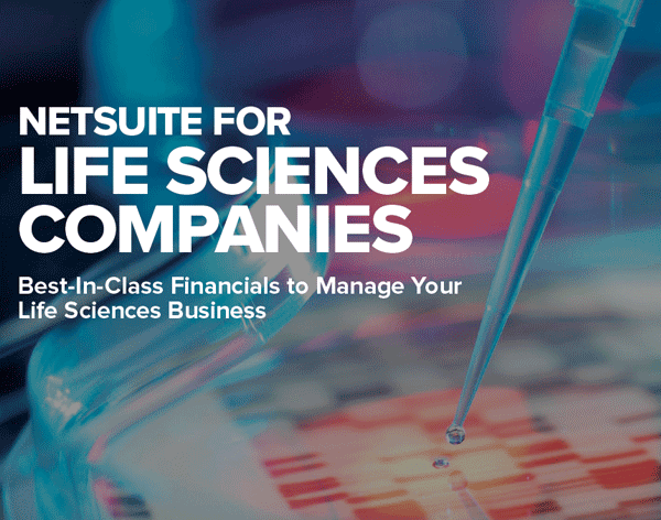 NetSuite for Life Sciences Companies PDF, healthcare erp