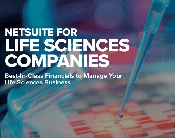 NetSuite for Life Sciences Companies PDF, healthcare erp