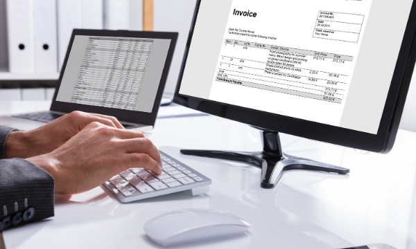 Person filling out an online invoice, NetSuite EDI Integration, NetSuite consultants