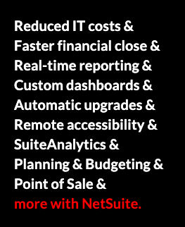 NetSuite capabilities, netsuite pricing