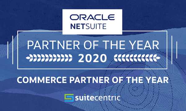 NetSuite Commerce Partner Of the Year Award Logo 2020, SuiteCentric