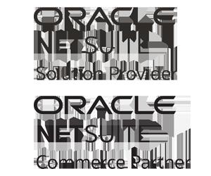 NetSuite Commerce Agency Partner logo and NetSuite Solution Partner logo, NetSuite SuiteCommerce Advanced