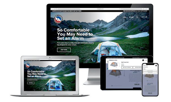 Big Agnes website on multiple devices, NetSuite Case Study by SuiteCentric, NetSuite Consultants