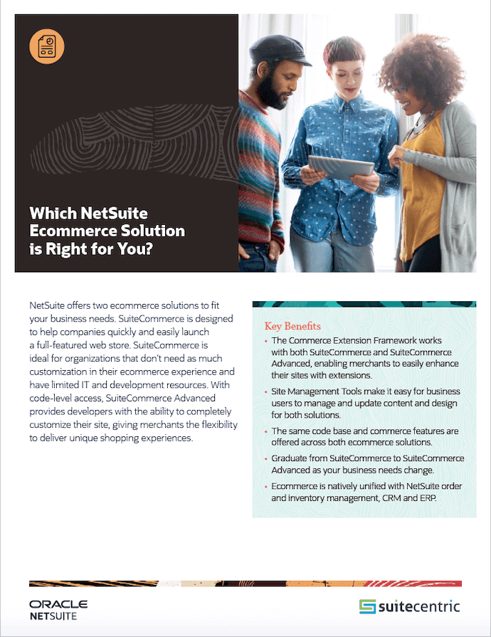 Which NetSuite Ecommerce Solution is Right for You? - SuiteCentric