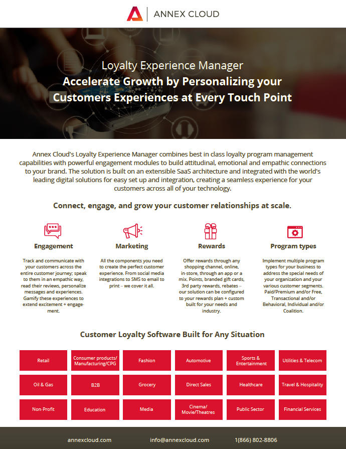 Annex Cloud - Loyalty Experience Manager - Image, SuiteCentric