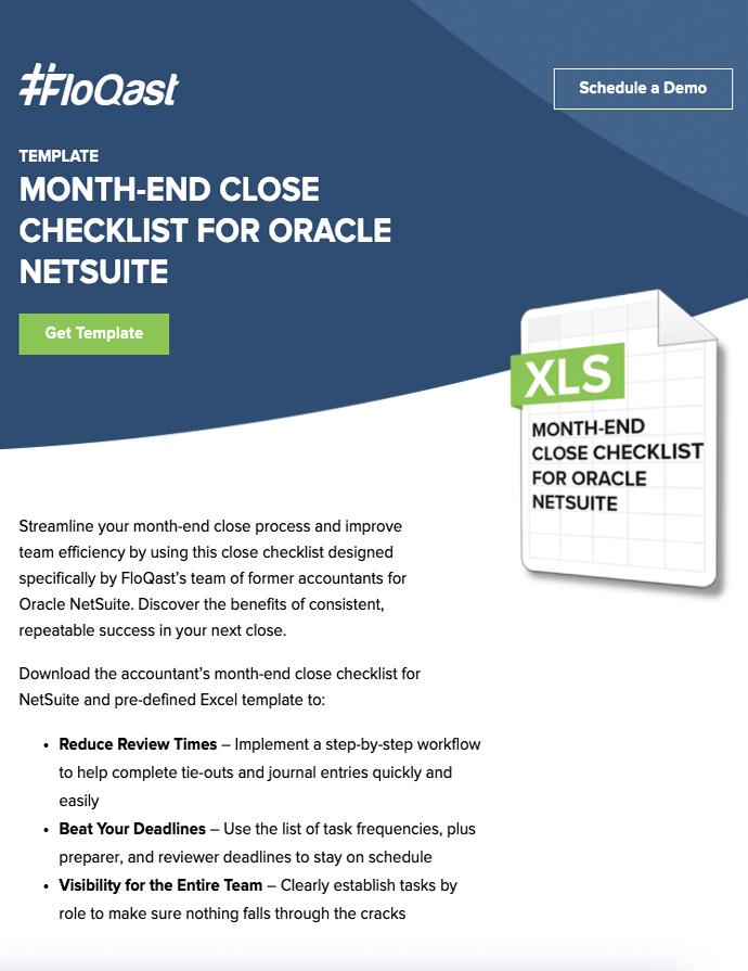 FloQast Month-End Checklist for NetSuite - Image, SuiteCentric