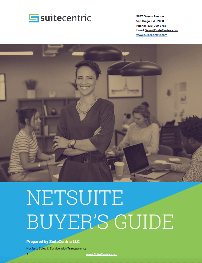 NetSuite Buyer's Guide - Prepared by SuiteCentric, netsuite wholesale distribution