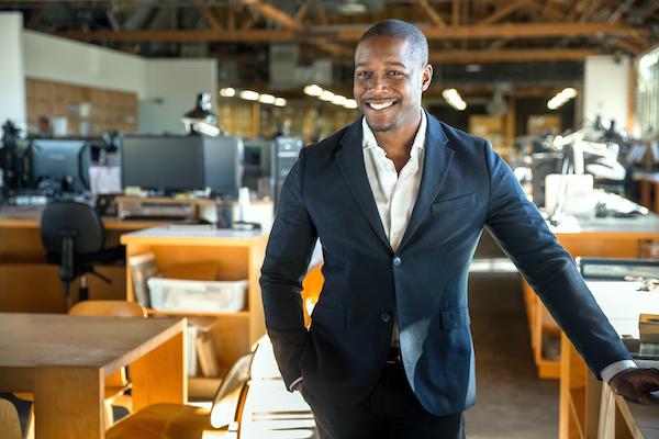 African American entrepreneur, salesperson, business owner, ceo portrait, NetSuite wholesale distribution