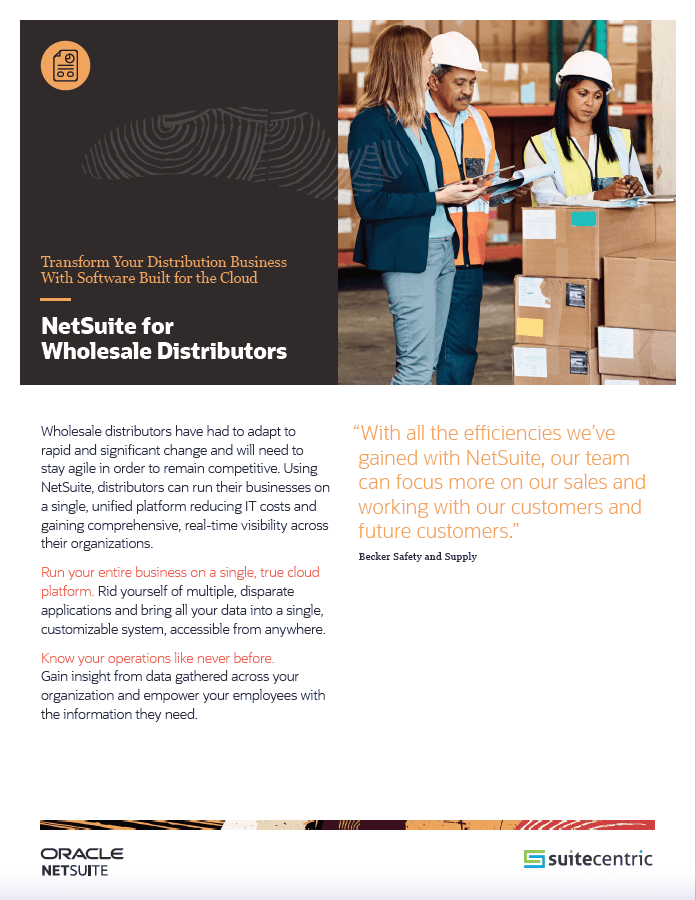 NetSuite for Wholesale Distributors - SuiteCentric, netsuite wholesale distribution